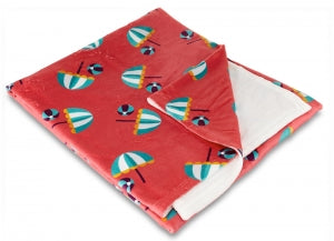 Umbrella & Beach Balls Fleece Throw Blanket