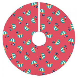 Umbrellas & Beach Balls Christmas Tree Skirt