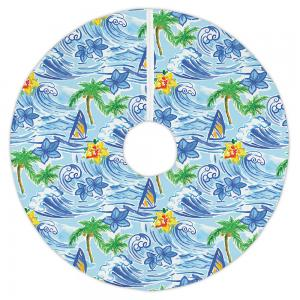 Hawaiian Surf Christmas Tree Skirt