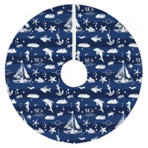 Blue Sea Mix Tree Skirt
