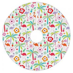 Tropi Cool Flamingos Tree Skirt