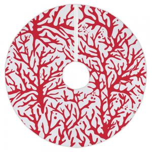 Coral Red Tree Skirt