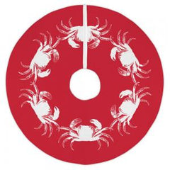 Vintage Crab Red Christmas Tree Skirt