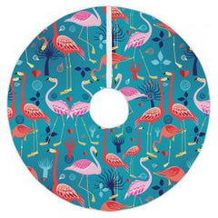 Flamingo Love Christmas Tree Skirt