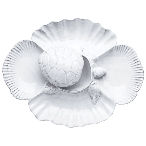 Incanto Mare White Turtle Antipasti Server