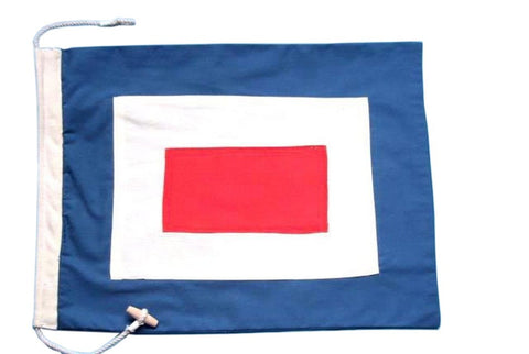 Letter W Cloth Nautical Alphabet Flag - 20