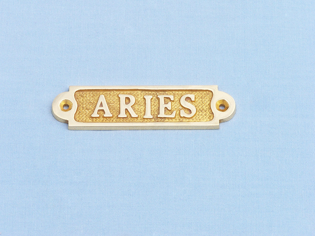 Solid Brass Aries Sign 4