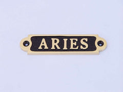 Solid Brass/Black Aries Sign 4