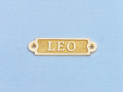 Solid Brass Leo Sign 4