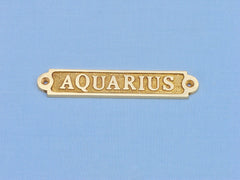 Solid Brass Aquarius Sign 5