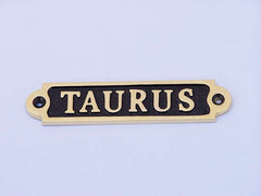 Solid Brass/Black Taurus Sign 4