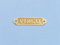 Solid Brass Virgo Sign 4