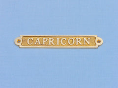 Solid Brass Capricorn Sign 6