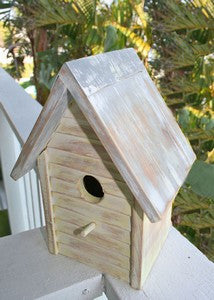 Beach Cottage Birdhouse - Yellow