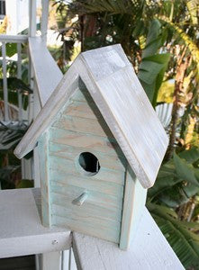 Beach Cottage Birdhouse - Aqua