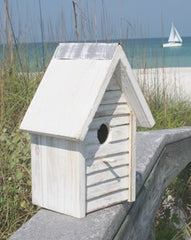 Beach Cottage Birdhouse - White
