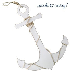 Anchor - White with Rope Detail