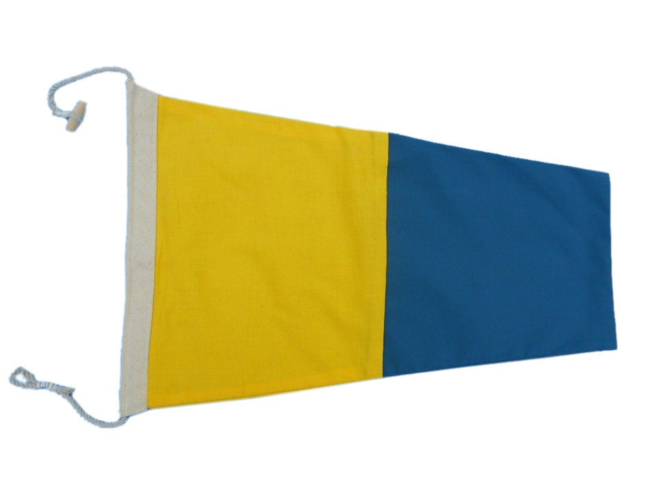 Number 5 - Nautical Cloth Signal Pennant - 20