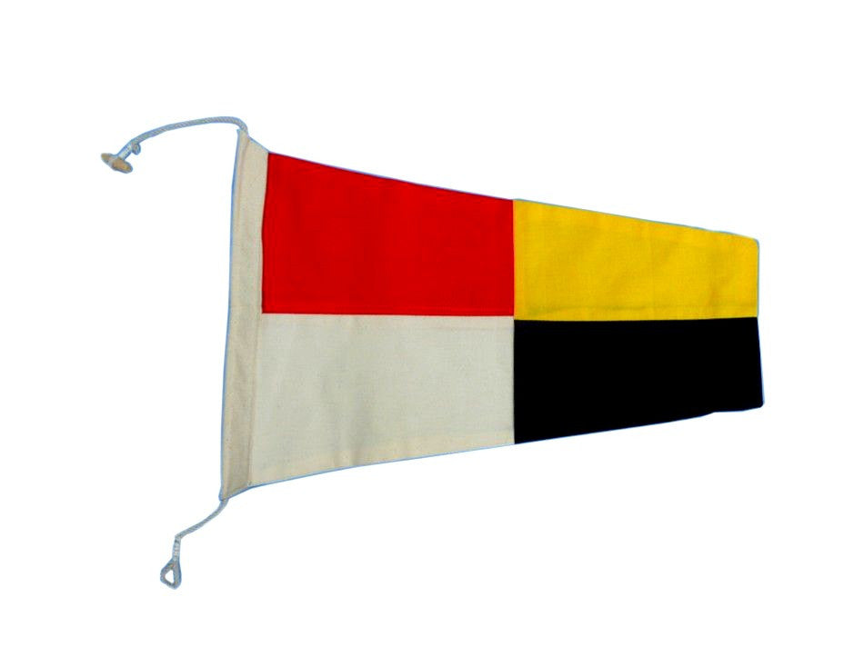 Number 9 - Nautical Cloth Signal Pennant - 20
