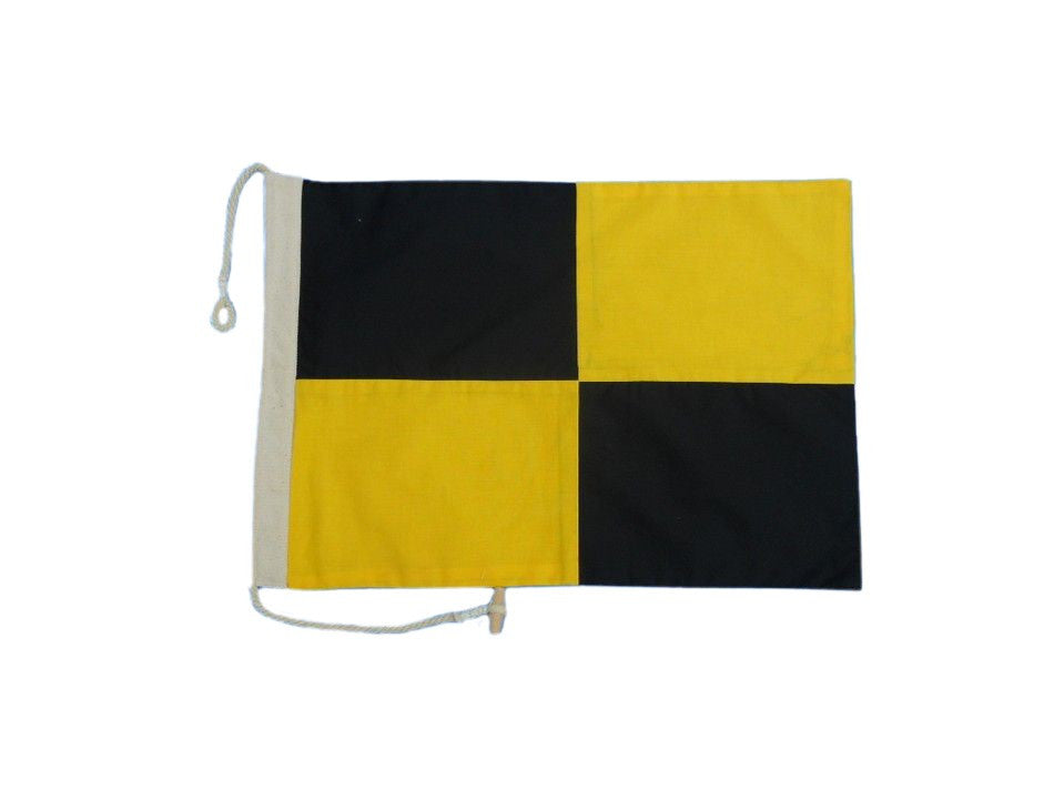 Letter L Cloth Nautical Alphabet Flag - 20