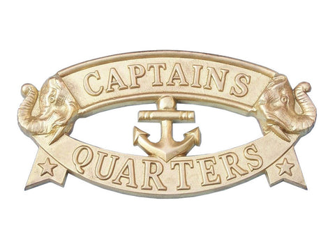 Solid Brass Captain's Quarters Sign 9