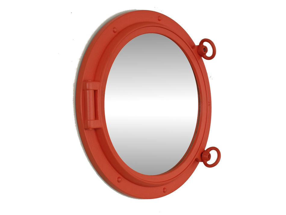 Orange Porthole Mirror 15