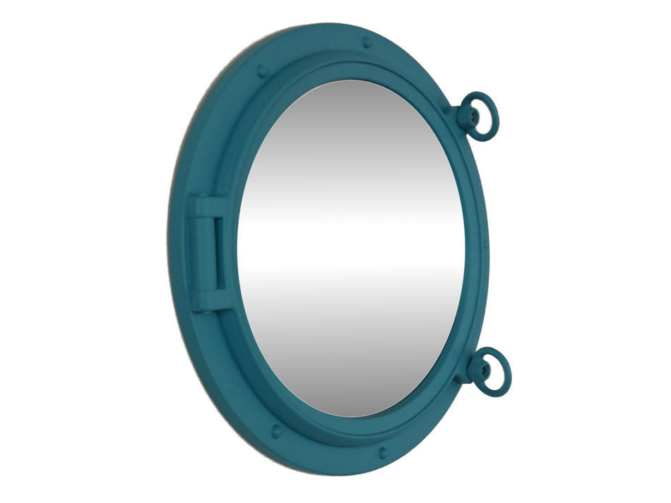 Light Blue Porthole Mirror 15