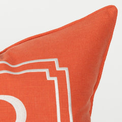Monogram Pillow in Salmon