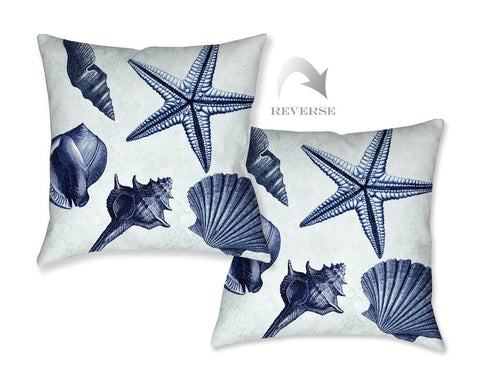 Blue Shell Toss Indoor Decorative Pillow