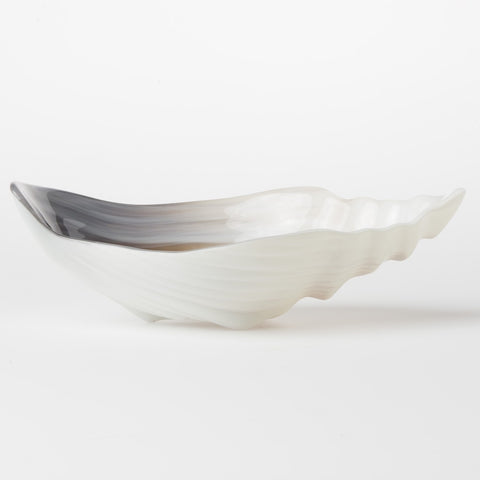 Sabbia Glass Large Conch Shell Bowl