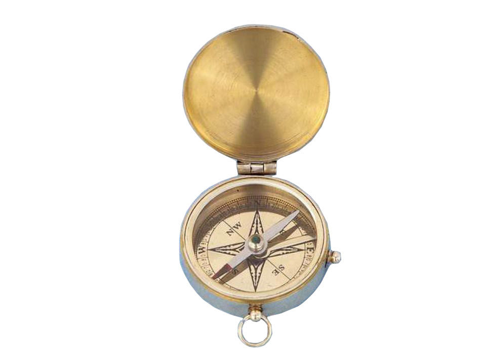 Solid Brass Lewis & Clark Pocket Compass 3