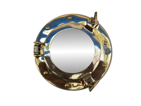 Brass Deluxe Class Porthole Mirror 8