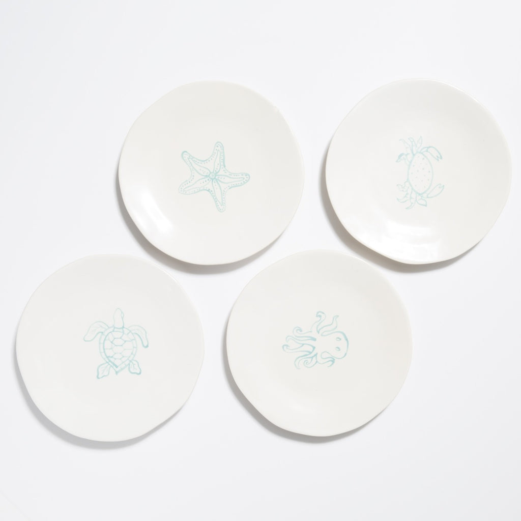 Spiaggia White Assorted Salad Plates