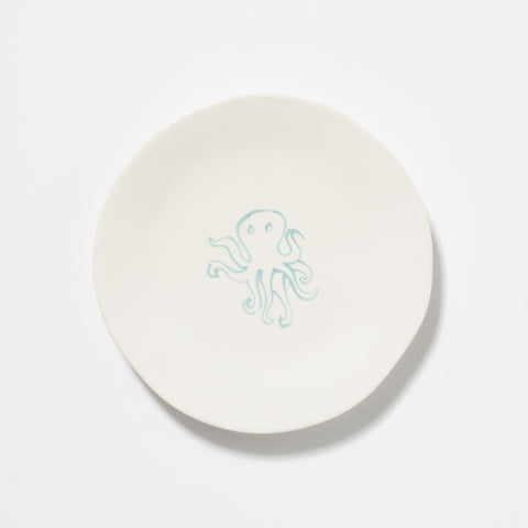 Spiaggia White Octopus Salad Plate
