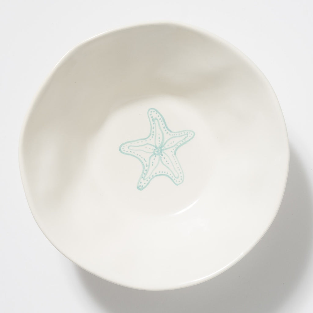 Spiaggia White Starfish Serving Bowl