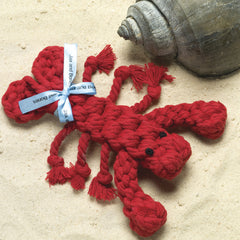 Lobster Rope Dog Chew Toy