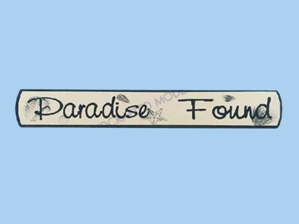 Wooden Paradise Found Nautical Plaque 18