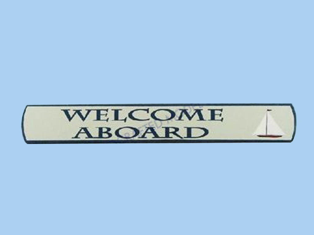 Wooden Welcome Aboard Nautical Plaque 18