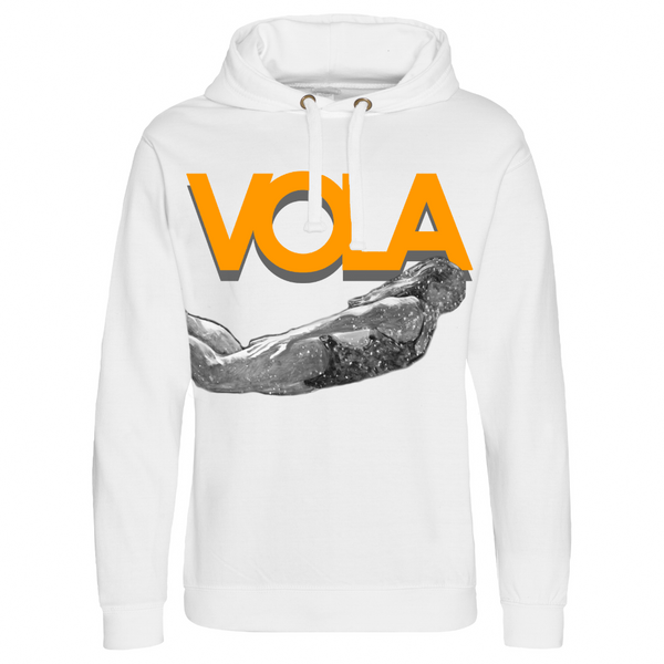 POOL HOODIE WHITE ORANGE PRINT