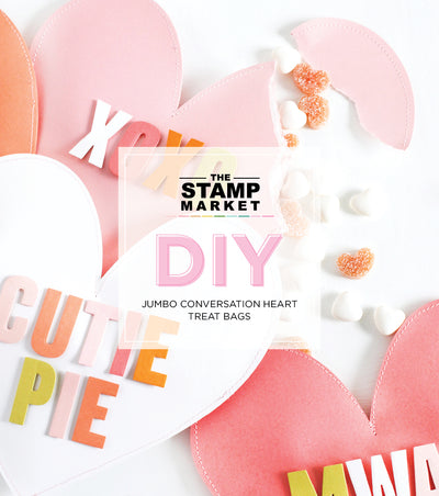 DIY JUMBO CONVERSATION HEARTS