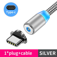 Magnetic Cable lighting 2.4A Fast Charge for micro lighting type C