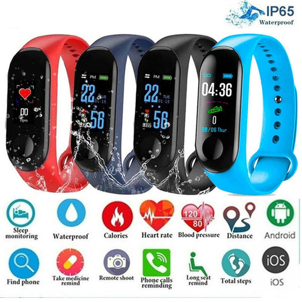 Smart Sports watch blood pressure heart rate monitor bluetooth waterproof bracelet