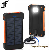 Solar Waterproof 30000mAh USB Ports Powerbank
