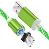 Magnetic Flowing Glow Fast Charging Cable