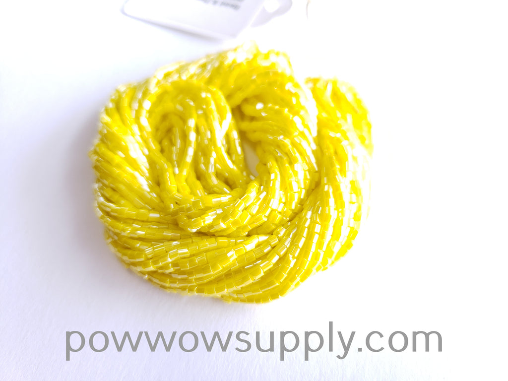 11/0 2-cuts Opaque Luster Lemon Yellow