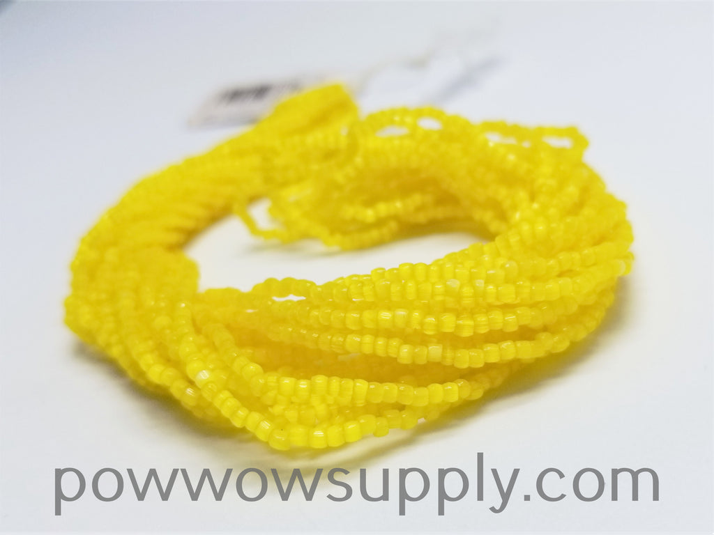 9/0 3-cuts Satin Yellow