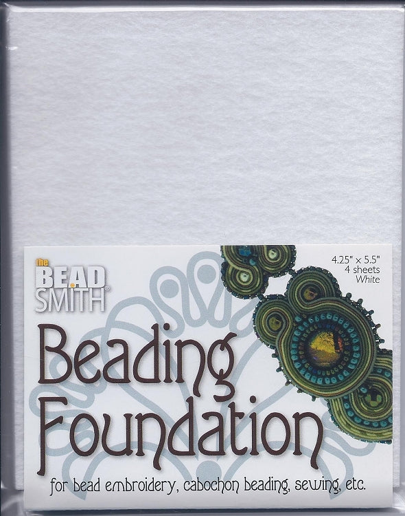 Beading Foundation 4.25x5.5 White (4 pc)