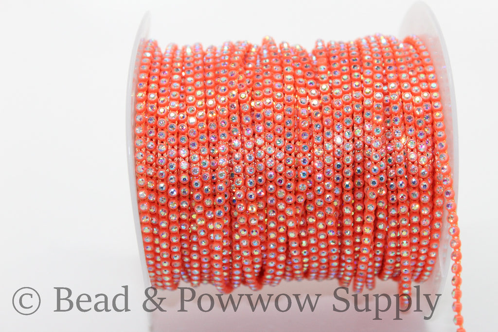 Chinese SS6 Neon Orange-Crystal AB
