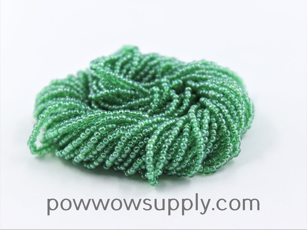 10/0 Seed Beads Transparent Luster Pale Green