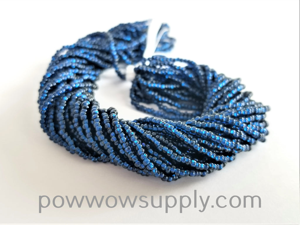 10/0 Seed Beads Silver Lined Montana Blue